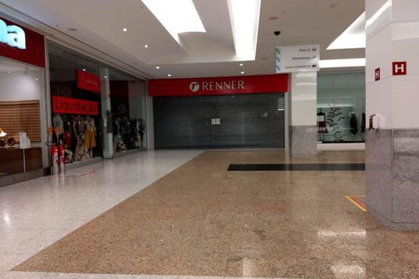 Em Natal, os maiores shoppings estão fechados há quase uma semana e sem data de reabertura