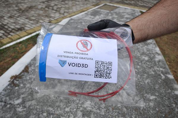 Void3D: capacidade é de produzir até 10 máscaras/dia por máquina e atualmente conta com 12 impressoras