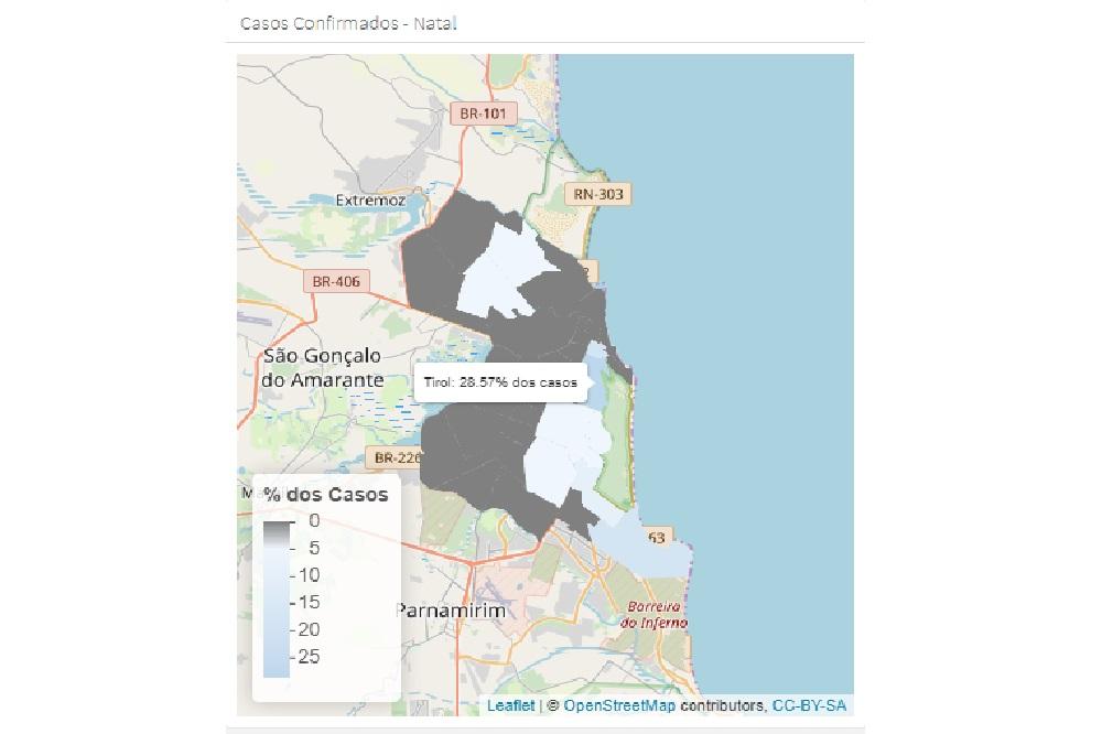 Dados estão dispostos em site criado pelos pesquisadores