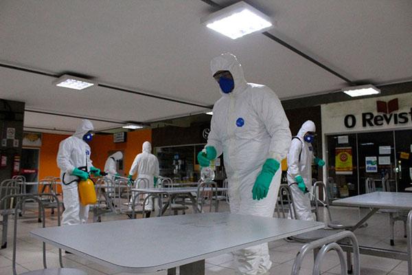 O Aeroporto Internacional e a rodoviária de Natal já foram desinfectados pelos militares