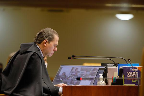 Presidente do STF, Dias Toffoli acompanhou o voto de Roberto Barroso para restringir alcance da MP