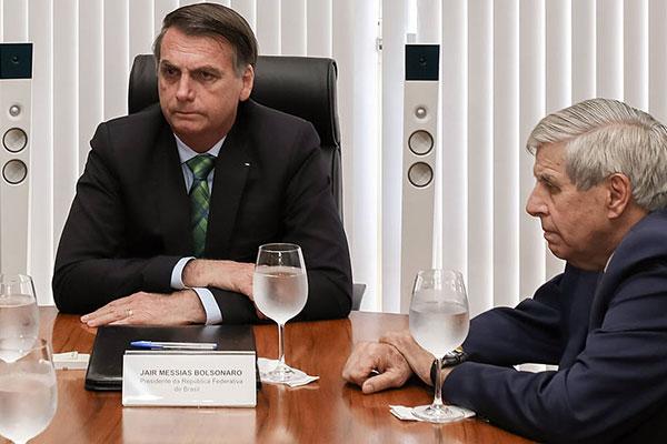Presidente Jair Bolsonaro disse que teve conhecimento da carta divulgada pelo general Heleno
