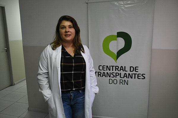 Rogéria Mendes, coordenadora da Central de Transplantes do Rio Grande do Norte