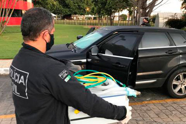 Policiais civis cumpriram mandados de busca e apreensão na Bahia, Rio de Janeiro, São Paulo e Distrito Federal nesta segunda, 1º