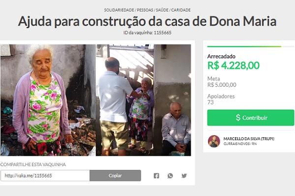 R$ 4.228,00 foram doados ao casal até às 16h20 desta sexta-feira