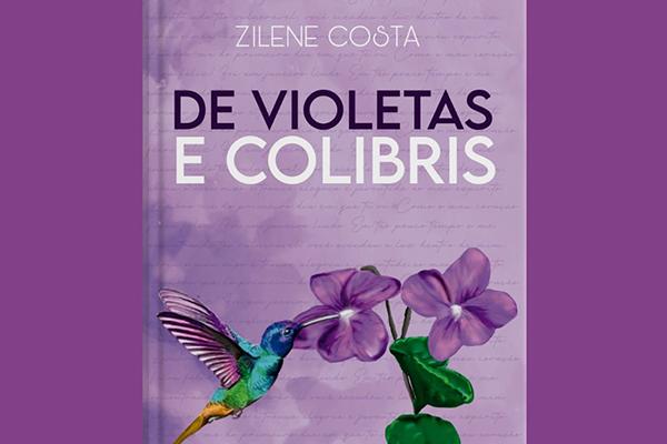 """Capa do livro """"De Violetas e Colibris"""""""
