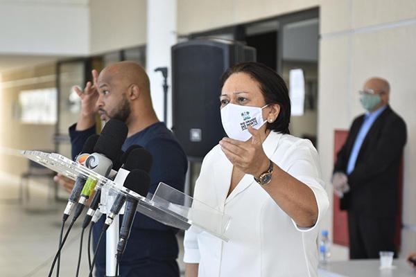 Governadora Fátima Bezerra disse espera liberação de leitos para segunda fração da retomada econômica