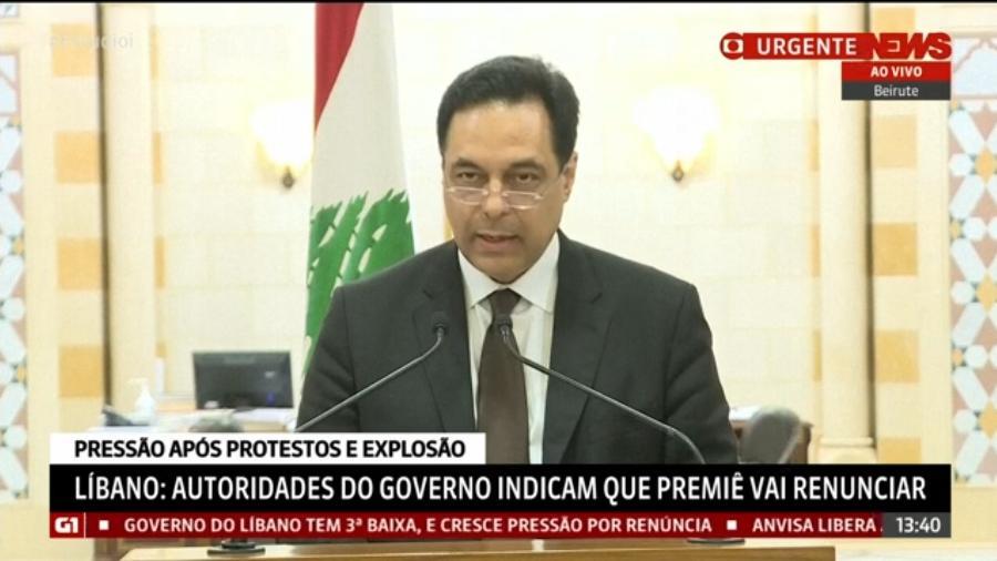 Primeiro-ministro libanês Hassan Diab anuncia renúncia após protestos e explosão em Beirute