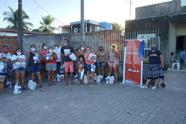 Famílias carentes do município de Guamaré foram beneficiadas com cestas básicas entregues pela ALE