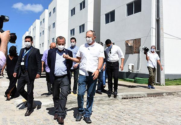 Ministro do Desenvolvimento Regional, Rogério Marinho, visitou obras que estão paradas e em fase de conclusão em Parnamirim