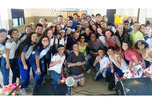 Em anos anteriores a gincana presencial atraiu muitos alunos de escolas públicas para tarefas sobre os artistas potiguares