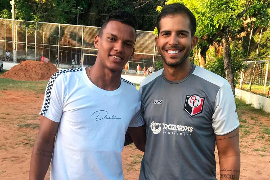 Gabriel Veron e Eugênio Gomes trabalharam juntos no Santa Cruz até meados de 2017