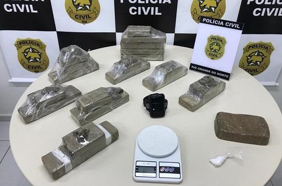 Drogas foram encontradas no Jardim Lola, em São Gonçalo do Amarante