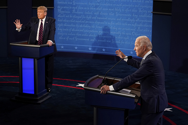 Republicano Donald Trump e democrata Joe Biden disputam a Presidência dos Estados Unidos