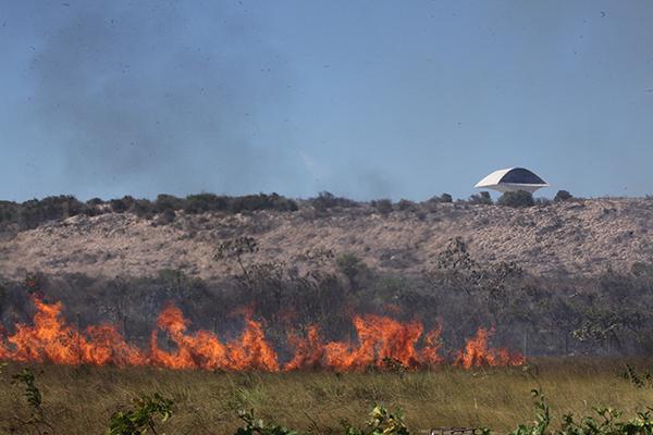 Nesta sexta-feira (16), militares atenderam ocorrência de incêndio no Parque da Cidade, em Natal