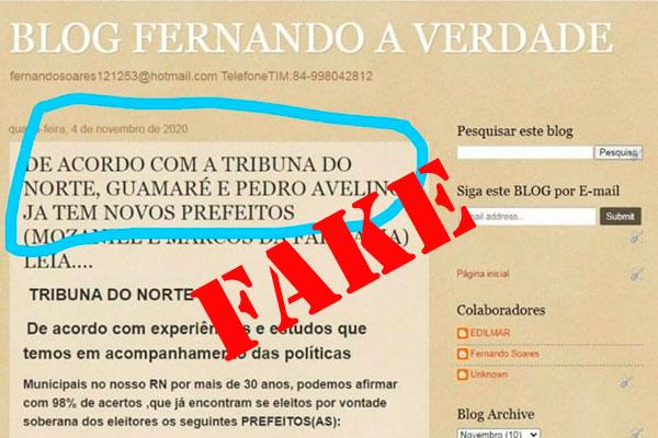 Postagem falsa foi retirada do ar, mas print circula nas redes