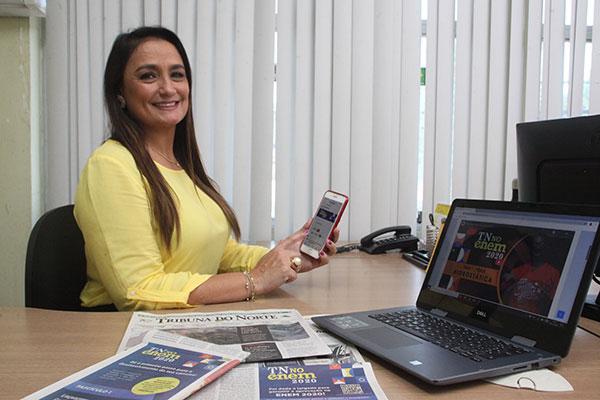 Gerente comercial da TRIBUNA DO NORTE, Thaíza Andrade adianta que projeto apresenta diferenciais, como o Webinar, uma transmissão ao vivo com professores