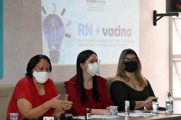 Plano de vacinação no Rio Grande do Norte foi lançado sexta-feira pelo Governo do Estado