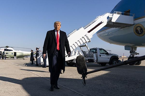 Donald Trump afirmou não estar preocupado com o possível acionamento da 25ª emenda