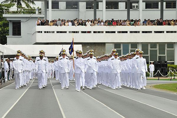 Aprovados vão passar quatro anos na Escola Naval estudando para se tornarem oficiais da Marinha