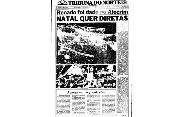 Capa da edição do dia 7 de abril de 1984 trazia reportagem sobre o movimento Diretas Já, iniciado em todo o Brasil