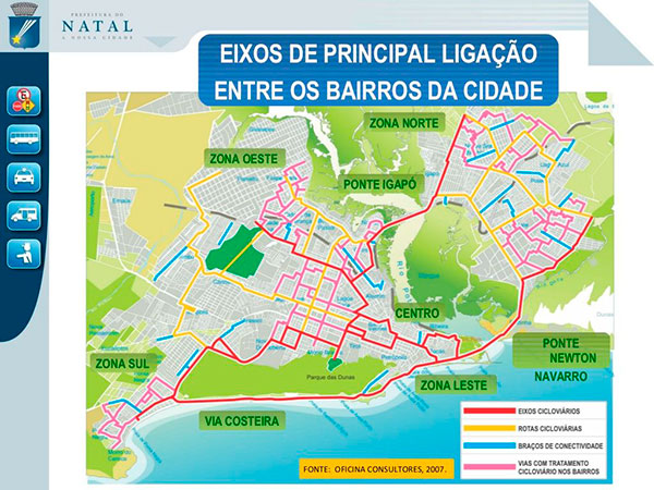 Mapa mostra vias beneficiadas