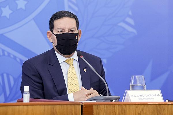 Hamilton Mourão afirmou nesta quinta-feira que os desafios impostos ao mundo pela pandemia reforçam a percepção de que a ascensão econômica de grandes atores globais