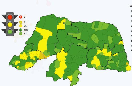 Indicadores apontam que RN pode retomar eventos de massa em 138 das 167 cidades do RN
