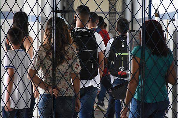 Na Escola Alberto Torres, as aulas presenciais para todos os alunos foram adotadas no dia 30 de agosto, sem contaminações