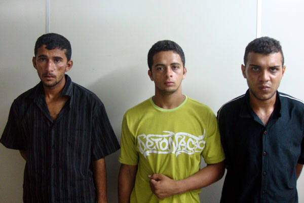 Themer Luan do Nascimento, Márcio Salustino e Leandro Firmino.