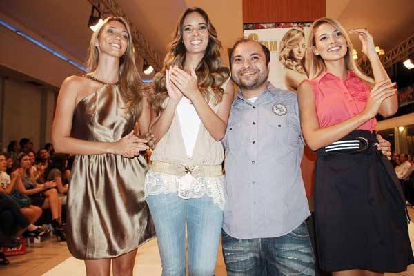 George Azevedo posa ao lado de modelos no lançamento da 3ª edição da Glam