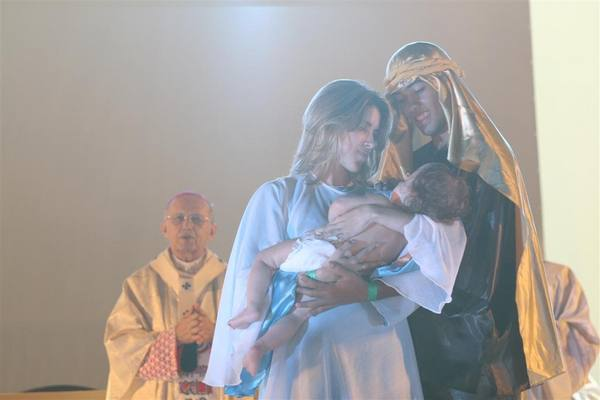 Maria, José e Jesus foram representados após o dízimo