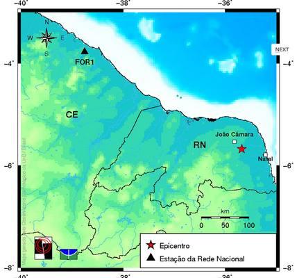 Imagem do Observatório Sismológico da UnB mostra epicentro do tremor