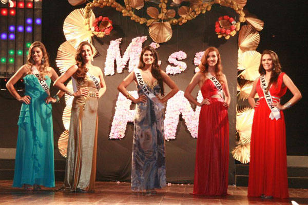 As cinco  finalistas do Miss RN 2010