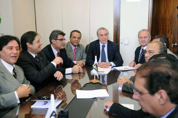 Integrantes da  Executiva Nacional do PMDB confirmam escolha de Michel Temer para chapa  de Dilma