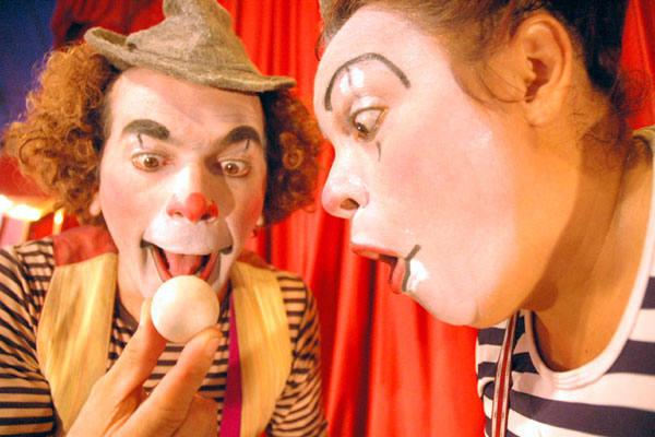 Palhaços Espaguete e Ferrugem, do Circo Grock