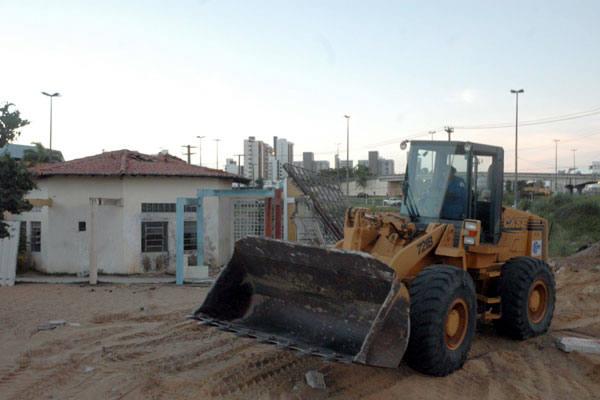 Em Natal, apenas uma creche foi derrubada e pequenos serviços de terraplanagem na área do Centro Administrativo estão sendo realizadas