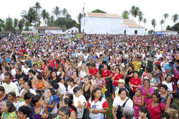 Oito mil romeiros compareceram ontem às celebrações dos 365 anos do martírio de Uruaçu e Cunhaú. Todos imbuídos de fé  para agradecer as graças alcançadas e mostrar a devoção aos mártires