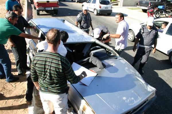 O motorista do veículo foi levado para o hospital Walfredo Gurgel