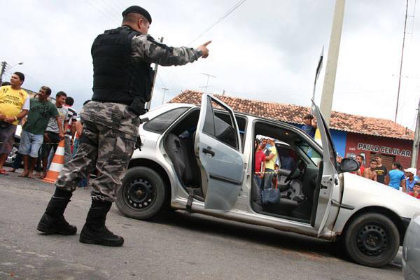 A quadrilha de assaltantes tentou assaltar um carro-forte em Monte Alegre na quarta-feira