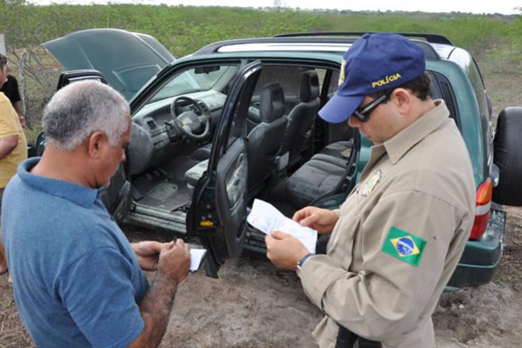 Tracker usado pelos bandidos é encontrado em Cajazeiras