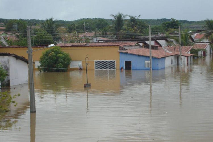 Cerca de 500 pessoas ficaram desalojadas com os alagamentos ocorridos no município de Jucurutu