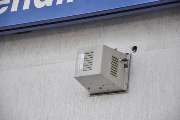 Criminosos deixaram a chave utilizada para realizar o roubo