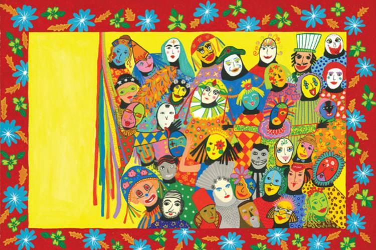 Com ilustrações de Cláudia Cascarelli, livro faz uma viagem pelo Carnaval nordestino, destacando a figura dos mascarados