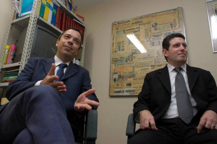 Bacellar e Davies (diretor de Operações): capacidade sempre esteve de acordo com a demanda