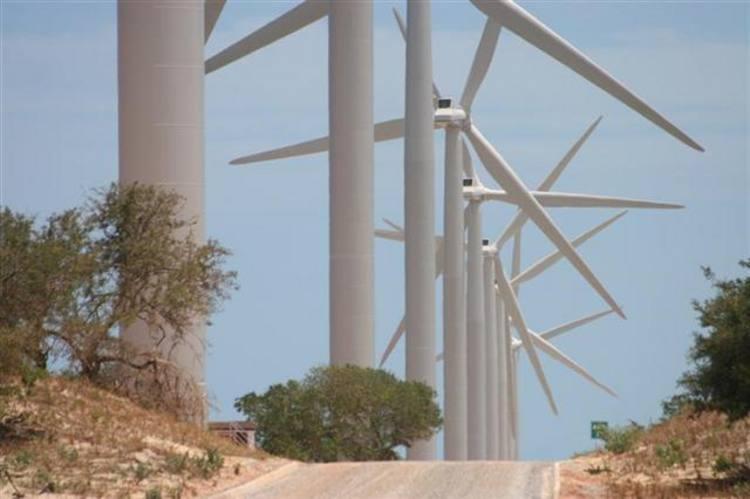 A unidade Alegria I é composta por 31 aerogeradores com potência total de 51,2MW