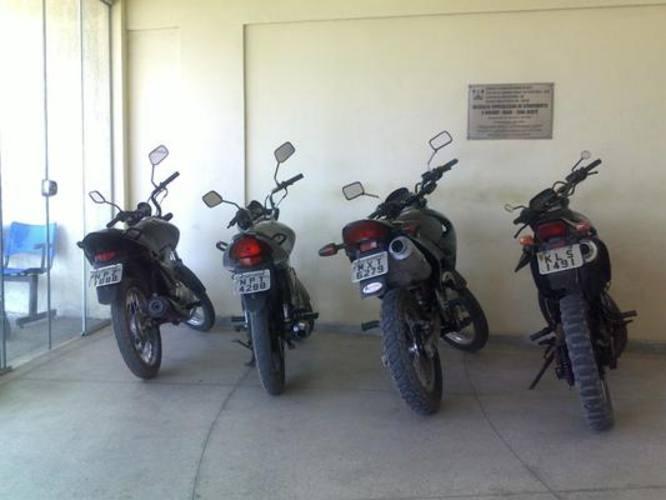 Motos apreendidas pela polícia