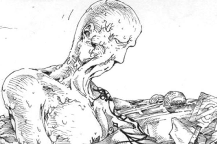Quadro de O Homem da Ilha do Lixo, que está na versão impressa da série K-Ótica
