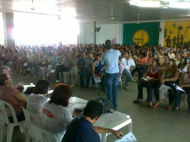Assembleia dos professores realizada na Assem