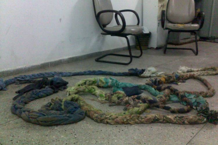 Apenados utilizaram lençois amarrados para fugir do presídios